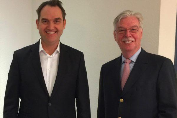 Dr. Oliver Grün (links) und Dieter Philipp (rechts).